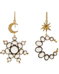 Judy Geib | Metallic Opal, Gold & Silver Sun & Moon Drop Earrings | Lyst