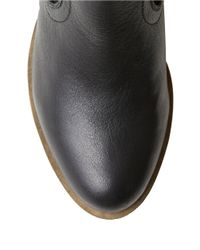 Kensie - Black Gabor Suede-accented Ankle Boots - Lyst