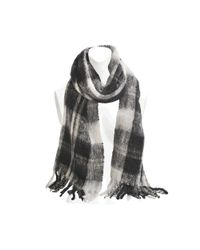 Marc By Marc Jacobs - Black Blanket Plaid Knit Scarf - Lyst