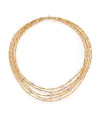 Marco Bicego | Metallic Marrekech Diamond & 18k Yellow Gold Multi-strand Necklace | Lyst