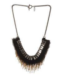 Venna - Black Necklace - Lyst