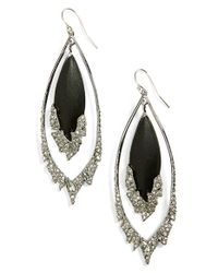 Alexis Bittar | Black 'lucite' Double Drop Earrings | Lyst