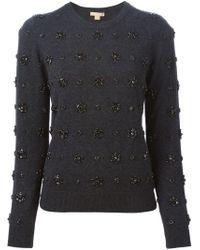 Michael Kors - Gray Embellished Sweater - Lyst