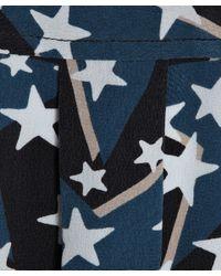 Equipment - Blue Star Print Sleeveless Dress - Lyst