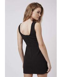 TOPSHOP - Black Petite Eyelet Bodycon Dress - Lyst