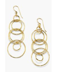 Ippolita - Metallic 18k Gold Link Drop Earrings - Lyst