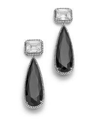 Jarin K - Black Elongated Teardrop Earrings - Lyst