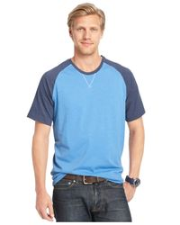Izod | Blue Short-sleeve Raglan T-shirt for Men | Lyst