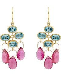 Marie-hélène De Taillac - Pink Trapeze Earrings - Lyst