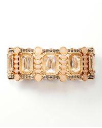 Ann Taylor | Pink Crystal Cluster Stretch Bracelet | Lyst