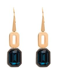 Rebecca | Metallic 'elizabeth' Pendant Earrings | Lyst