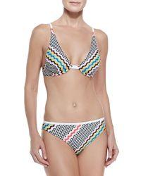 Missoni - Multicolor Wavy-Pattern Underwire Bikini - Lyst