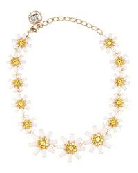 Dolce & Gabbana - Metallic Crystal-embellished Necklace - Lyst