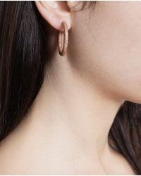 Carolina Bucci - Metallic 18k White Gold Sparkly Hoop Earrings - Lyst
