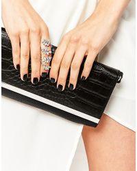 Lipsy | Metallic Crystal Ornate Statement Ring | Lyst