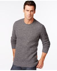 Barbour | Gray Copeland Marled Crew-neck Sweater for Men | Lyst