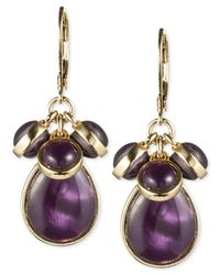 Jones New York | Purple Epoxy Stone Cluster Earrings | Lyst