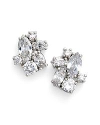Givenchy - Metallic Crystal Cluster Stud Earrings - Lyst