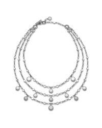 John Hardy | Metallic Triple Row Bib Necklace | Lyst