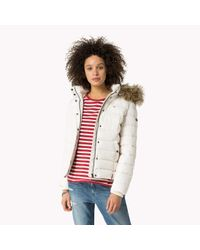 Tommy Hilfiger | White Down Bomber | Lyst
