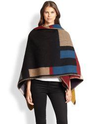 Burberry - Multicolor Prorsum Mega Check Wool & Cashmere Cape - Lyst
