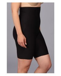 Tc Fine Intimates | Black Plus Size Just Enough® Hi-waist Thigh Slimmer 4009 | Lyst