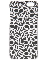Marc By Marc Jacobs - Black Metallic Scrambled Logo Iphone 6 Case - Shiny Nickle - Lyst