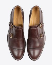 Billy Reid | Brown Piped Monk Shoe for Men | Lyst