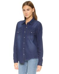 One Teaspoon - Blue Liberty Shirt - Lyst