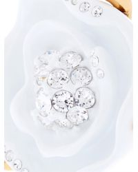Oscar de la Renta - White Rose Resin And Gold-Plated Ring - Lyst