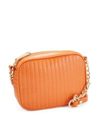 Kenneth Cole | Orange Sloan Street Leather Crossbody Bag | Lyst