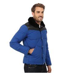 Penfield | Blue Rockwool Leather Yoke Down Jacket for Men | Lyst