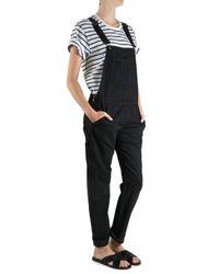 Rag & Bone | Black Hudson Sleeveless Silk Jumpsuit | Lyst