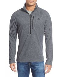 Adidas | Black 'reach Out' Half Zip Fleece Pullover for Men | Lyst