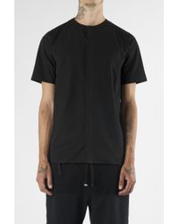Blood Brother - Auto Black Short Sleeve Collarless Shirt for Men - Lyst
