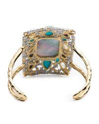 Alexis Bittar - Multicolor Elements Mosaic Spiked Swarovski Crystal Cuff - Lyst