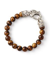Stephen Webster - Brown Tigers Eye Bead Bracelet 10mm - Lyst