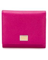 Dauphine wallet - Pink & Purple Dolce & Gabbana OQfG2Vska
