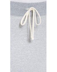 James Perse - Gray Fleece Twisted Seam Maxi Skirt - Lyst