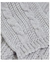 Jules B - Natural Soft Cable Knit Scarf for Men - Lyst