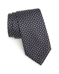 BOSS - Blue Geometric Silk Tie for Men - Lyst