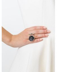 Stephen Webster - Metallic Geometric Stone Ring - Lyst