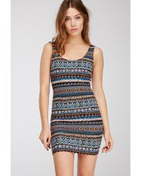 Forever 21 | Multicolor Tribal Print Bodycon Dress | Lyst