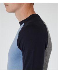 Reiss | Blue Twister Colour Block Jumper for Men | Lyst