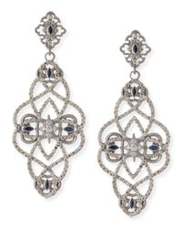 Armenta | Blue New World Diamond & Sapphire Scroll Earrings | Lyst