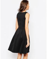 ASOS - Black Tall Debutante Embellished Trim Full Midi Dress - Lyst