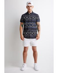 Forever 21 - White Pull-on Chino Shorts for Men - Lyst