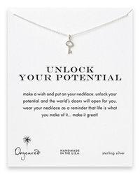 Dogeared | Metallic Sterling Silver Key Pendant Necklace | Lyst