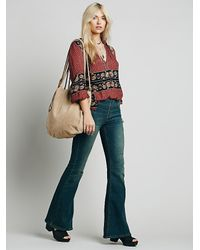 Free People - Brown Decades Suede Tote - Lyst