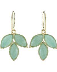 Irene Neuwirth - Green Gemstone Triple Marquise Earrings - Lyst
